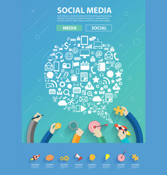 speech bubble shape technology social media icons vector image