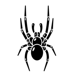 spider icon simple black style vector image