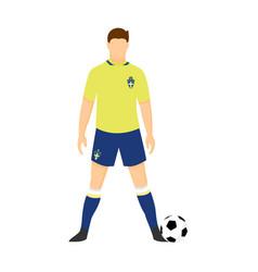 sweden football uniform national team vector image