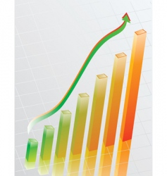 the schedule of business growth vector image