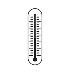 thermometer line outline vector image
