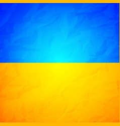ukraine state flag with effect of crumpled paper vector image