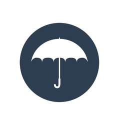 Umbrella flat icon Safety protection rain autumn vector image
