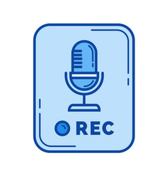 voice record app line icon vector image