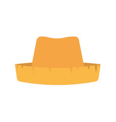 White background with straw hat vector