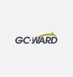 Wordmark go forward logo on white background vector