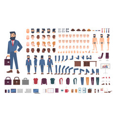 businessman character constructor male clerk vector image vector image