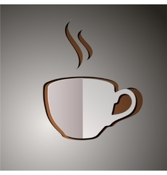 cup of coffee coffee logo vector image