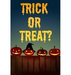 Halloween theme with jack-o-lantern vector image vector image