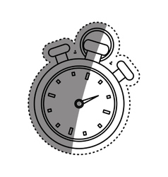 Isolated timer chronometer vector