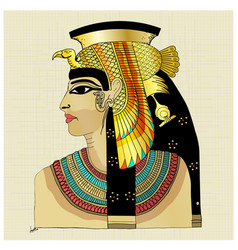 pharaoh with blue red yellow colors vector image