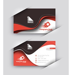 Photography Studio Business Card Set vector image