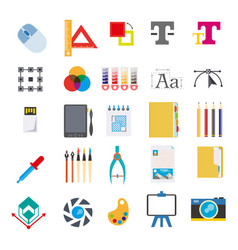 stationery and tools for writing on computer vector image