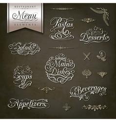 Vintage style restaurant menu designs vector image vector image