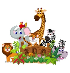 zoo and the animal cartoon vector image