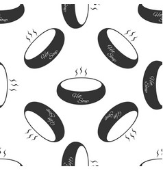 bowl of hot soup icon seamless pattern on white vector image vector image