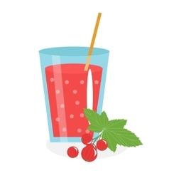 Currant juice in a glass Fresh isolated on vector image vector image