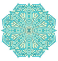 Ethnic decorative design element Colorful mandala vector image