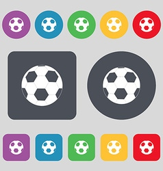 Football icon sign A set of 12 colored buttons vector image