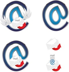 MAIL SIGN 5 vector image