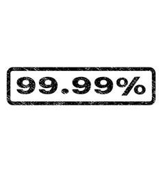 9999 percent watermark stamp vector image
