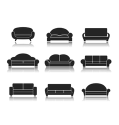 Modern Luxury Sofas and Couches vector image