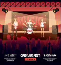 open air festival banner vector image