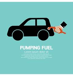 Pumping Fuel vector image