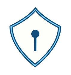 security web padlock vector image