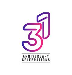 31 years anniversary celebration template design vector