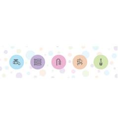5 drop icons vector