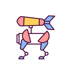 Autonomous weapon rgb color icon vector