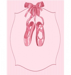 Ballet slippers on stripe background vector