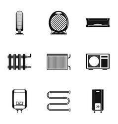 bathtub icons set simple style vector image