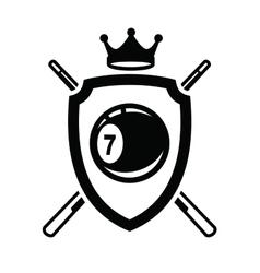 Billiards icon vector