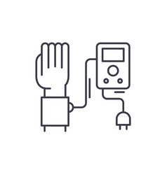 blood pressure measurement line icon concept vector image