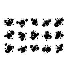 boiling bubbles glyphs vector image