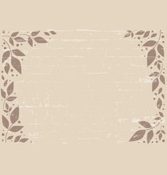 Brown background with brown leaves and dots vector
