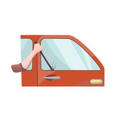 Car and theft symbol set vector