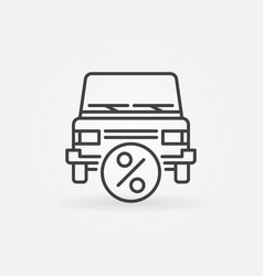 Car leasing icon vector