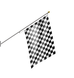 checkered flag isolated on white background vector image