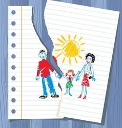 Children drawing vector
