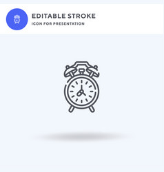 Clock icon filled flat sign solid vector