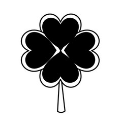 clover leaf plant icon vector image