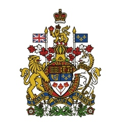 coat of arms of Canada vector image