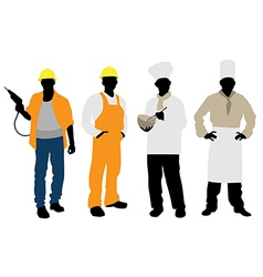 cooks and builders vector image