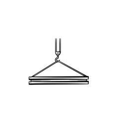 crane hook hand drawn sketch icon vector image