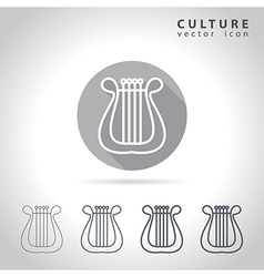 Culture outline icon vector image