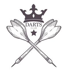 Darts championship tournament sketch logo vector