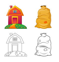 Design of farm and agriculture symbol vector